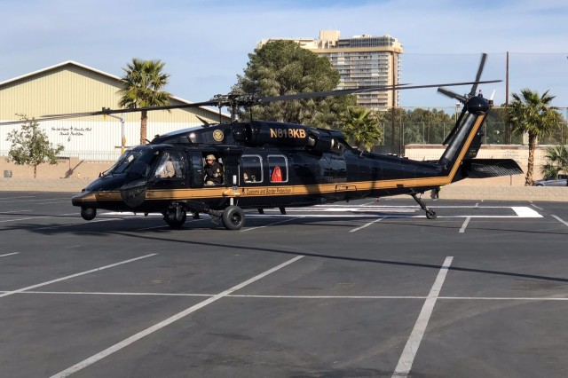 The U.S. Department of Homeland Security Customs and Border Protection utilizes a Black Hawk acquired through the Army's Black Hawk Exchange and Sales Team Program.