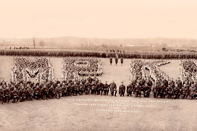 A view of the historic 1918 photo that sparked the idea for a recreation of it 100 years later. (Photo courtesy of Fort Knox Cultural Resources Office)