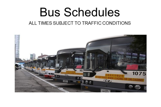 USAG Yongsan bus schedules effective 25 May 2018