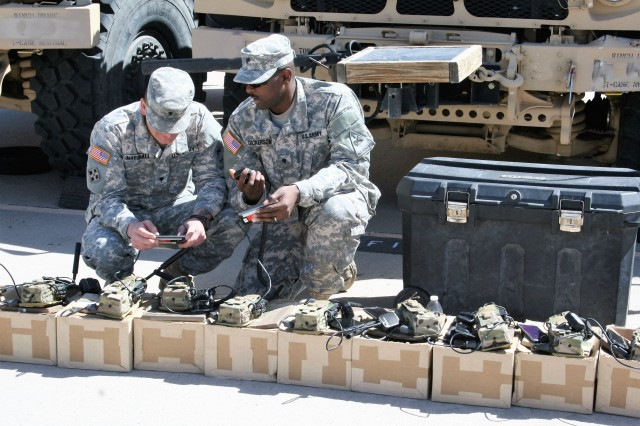 The NIEs helped the Army integrate and fully test several major network capabilities under development, while shedding light on next-generation warfighting technologies. During NIE 14.2, new radios were unpacked and programmed for Soldiers from the 2nd Brigade, 1st Armored Division to use during the exercise, which took place in May 2014.