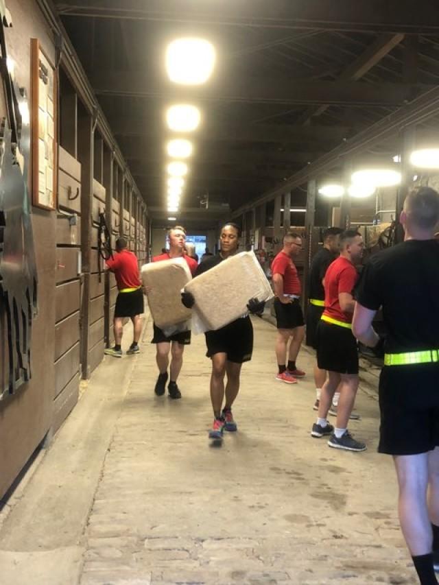 Barnyard physical training session builds camaraderie