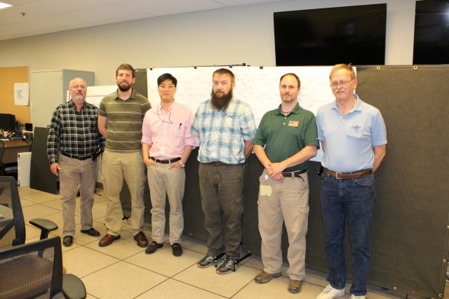 U.S. Army Research Laboratory researchers and engineers participated in a three-day project management training course at Aberdeen Proving Ground, Maryland, where they created a project plan using a consensus approach, May 1-3. The project planning team from the Vehicle Technology Directorate lab along with team members collaborate.