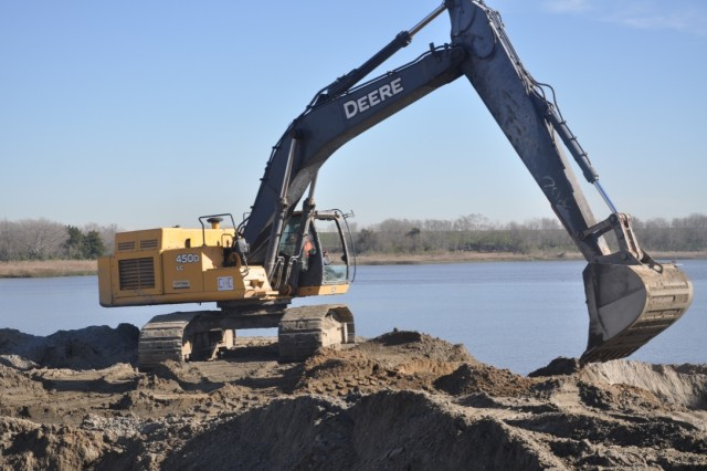 Construction of Savannah Harbor, GA