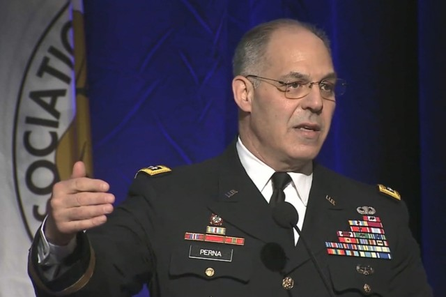 General Gus Perna, U.S. Army Materiel Command's senior leader, gives keynote address at the AUSA's 2018 LANPAC Symposium and Exposition, May 23.
