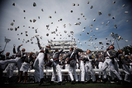 The U.S. Military Academy at West Point held its graduation and commissioning ceremony for the Class of 2018 at Michie Stadium in West Point, N.Y., May 26, 2018. Nine hundred and seventy-two cadets graduated, including 193 women, 105 African-Americans, 180 Asian/Pacific Islanders, 78 Hispanics and 16 Native Americans. Of this class, 152 attended the U. S. Military Academy Preparatory School, 12 are combat veterans and 11 are foreign- national cadets.