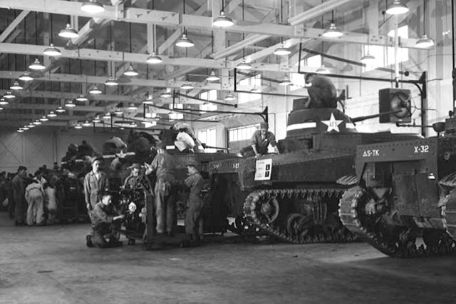 During World War II, the Tank Department was the largest in the armored school at Fort Knox.