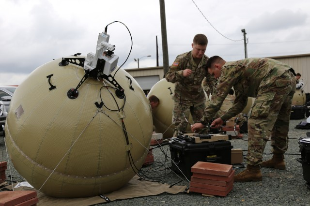 In support of initial entry and other tactical edge missions, PM Tactical Network/PEO C3T equipped the first unit -- the 3rd Brigade Combat Team, 82nd Airborne Division -- with the new inflatable satellite communications system known as Transportable Tactical Command Communications, or T2C2, to enable expeditionary mission command and situational awareness in the heart of evolving fights.