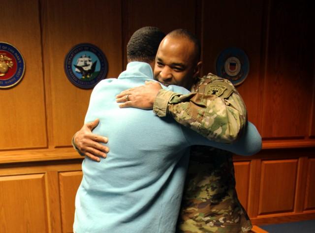 Brig. Gen. Vereen Congratulates Son on Enlistment