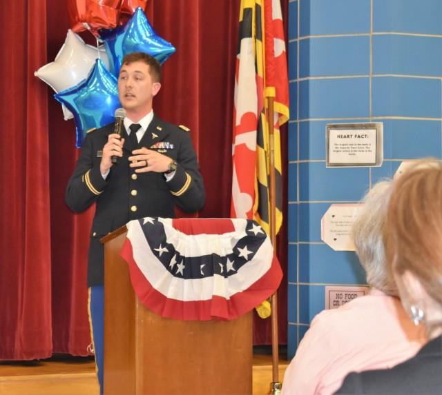 1st AML Officer Speaks with Churchville Elementary