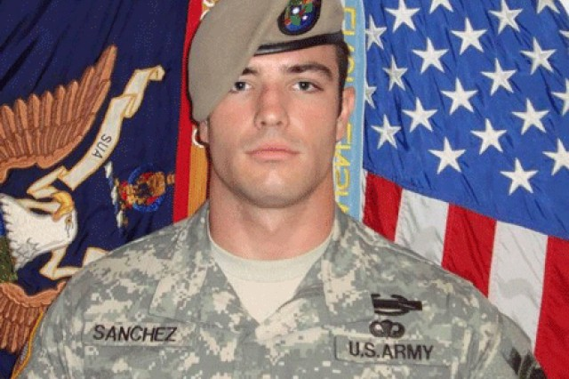 Sgt. Robert Daniel Sanchez's official photo before his fifth deployment, which was to Afghanistan. Sanchez had three previous deployments to Iraq and one to Afghanistan. (Photo courtesy of Command Sgt. Maj. Will Holland)