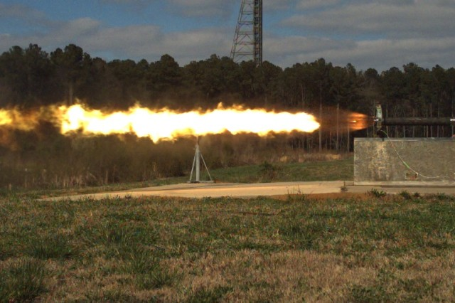 Field testing of the dual pulse rocket motor.