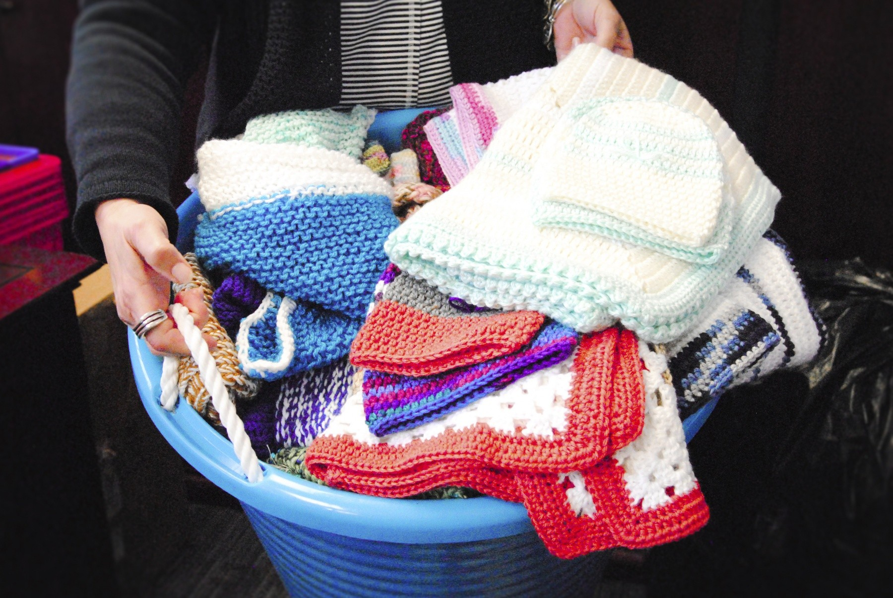 A reciprocal force for good: How two women's knitting charity helps
