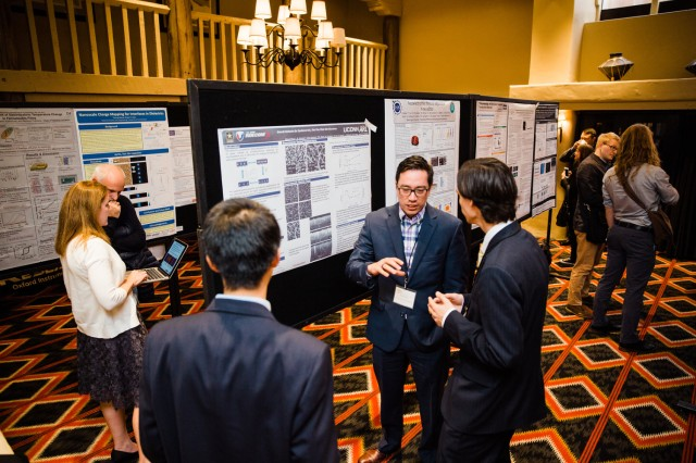 ARL materials engineer Manuel Rivas presents his research at the 18th US-Japan Seminar on Dielectric and Piezoelectric Ceramics held in Santa Fe, New Mexico, Nov. 5-8, 2017.
