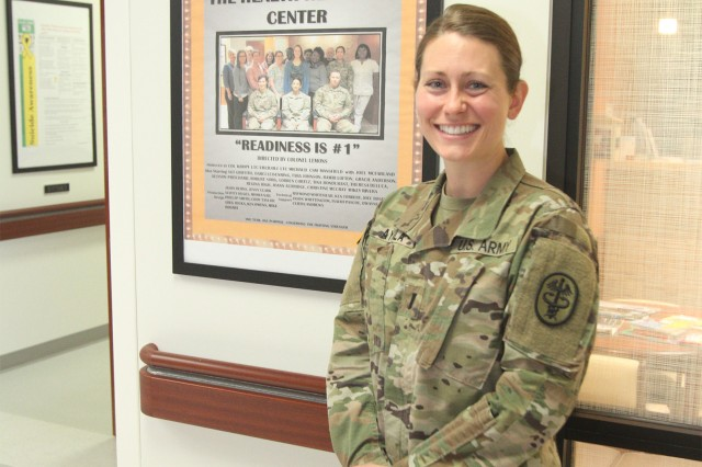 1st Lt. Rachel Ayala, chief of the Nutrition Care Division at Reynolds Army Health Clinic at Fort Sill, Okla., has the information and knowledge to help people with issues related to nutrition.