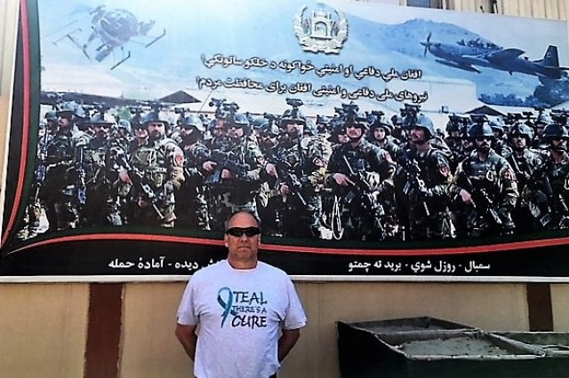 James Barber, JMC Ammunition Liaison Officer, poses for a photo during his Combined Security Transition - Afghanistan deployment.