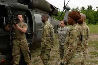 NY Army National Guard helicopter company conducts machine-gun training