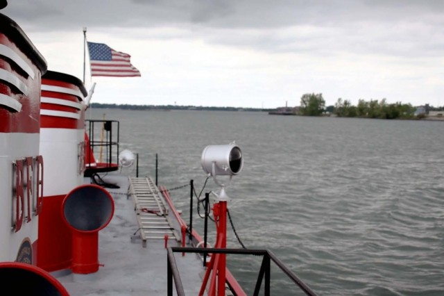 Buffalo District hosted the U.S. Army Corps of Engineers Great Lakes and Ohio River Division Leadership Development Program III, June 5, 2018. LDP participants went on a tour of the Niagara River aboard the Buffalo Fire Department Engine 21's historic fireboat, the Edward M. Cotter.Ecologist Joshua Unghire and Plan Formulator Bryan Hinterberger provided information on USACE projects along the river.