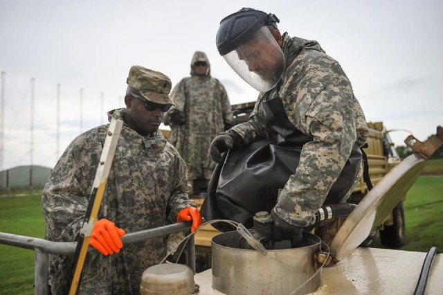 U.S. Army Reserve - Puerto Rico Soldiers conduct fueling operations in the aftermath of Hurricane Maria, 2017.