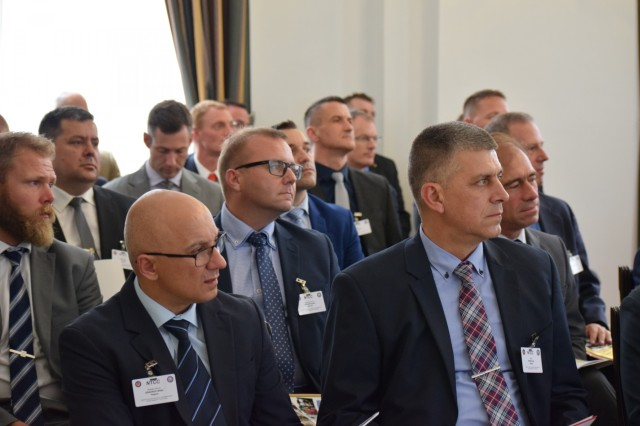 Senior logistics representatives from 21 nations listen to the opening remarks and briefs for the National Territorial Commanders' Committee meeting June 5 in Brussels, Belgium. The NTCC is an informal exchange of logistical information that enhances the formal processes of host nation support.