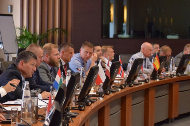 Logistics representatives from 21 nations gathered to exchange information on host nation support and discuss future logistical improvements during the National Territorial Commanders' Committee meeting held June 5-7 in Brussels, Belgium.