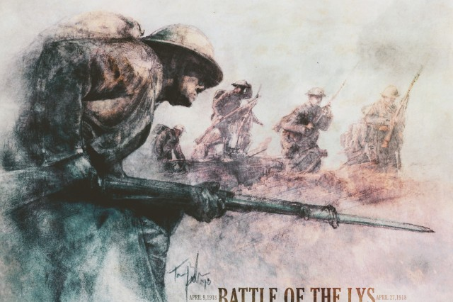 The battle for Lys took place April 9 - 27, 1918 and is one of the U.S. Army's campaign streamers. However, most of the combatants were French, British and German.