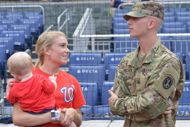About 200 family members of Soldiers attended the Army's birthday celebration at Nationals Park June 10, 2018.