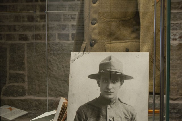 U.S. Army First Class Gunner Angelo A. Rizzo's World War I artifacts are on display at the Harbor Defense Museum at Fort Hamilton, New York. Rizzo was a radioman of the 59th Artillery, Coastal Artillery Corps, and served during World War I on the European Western Front.