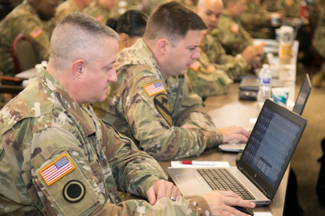 Col. Scott Farish, D.C. Army National Guard, Executive Secretary, MILPO Advisory Group, is seen learning about Integrated Personnel and Pay System - Army functionality at the MSTAG training event in Norman, Okla., June 4-8, 2018. As part of Fielding Group 2, the D.C. Army National Guard is scheduled to field the innovative 21st century HR and personnel system in early 2019 along with mid-Atlantic and northeast U.S. states.
