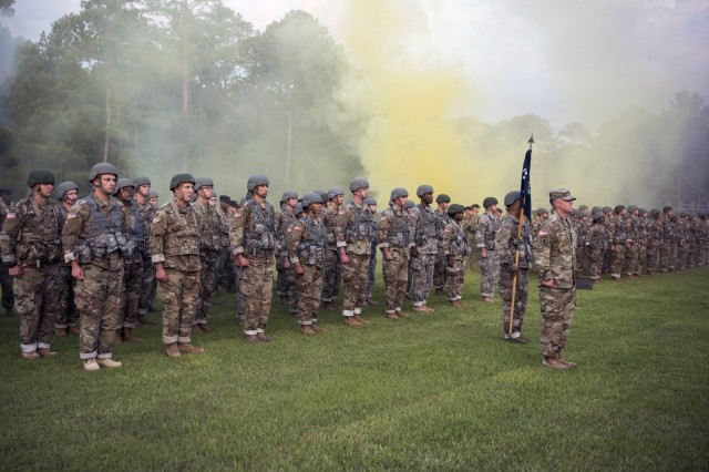 U.S. Army National Guard Officer Candidates from Florida, Georgia, North Carolina, Puerto Rico and South Carolina begin Phase 1 of their leadership training at McCrady Training Center, Eastover, SC on June 2nd, 2018. Phase 1 of Officer Candidate School is an intensive two-weeks of training that combines classroom learning, leadership development and field tactics instruction while placing candidates in simulated stressful conditions. It's the beginning of their officer leadership journey and requires commitment, perseverance, motivation, resilience and flexibility.