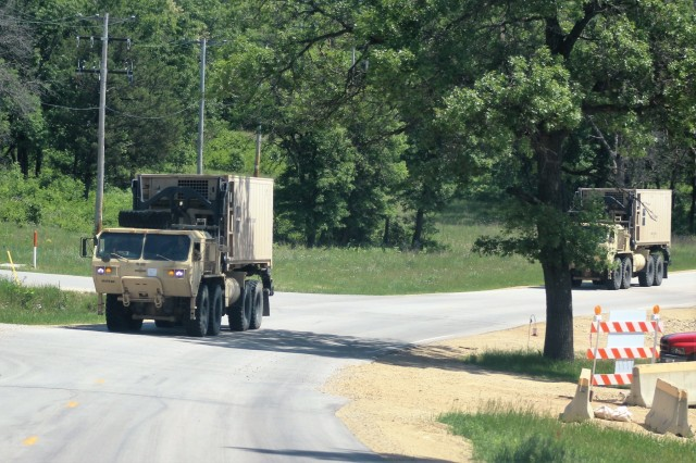 Soldiers at Fort McCoy, Wis., for training in the 86th Training Division's Combat Support Training Exercise 86-18-04 operate military vehicles on North Post on June 7, 2018, at Fort McCoy, Wis. The exercise is part of the Army Reserve's Combat Support Training Program, or CSTP. CSTP exercises are large-scale, collective-training exercises designed to immerse units into tactical training environments that closely replicate what they might experience in operational deployments. The 86th Training Division is a tenant organization at Fort McCoy. (U.S. Army Photo by Scott T. Sturkol, Public Affairs Office, Fort McCoy, Wis.)