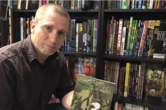 Army Sgt. 1st Class Phillip Johnson, an Army Field Band trumpeter, also writes comic books and graphic novels.