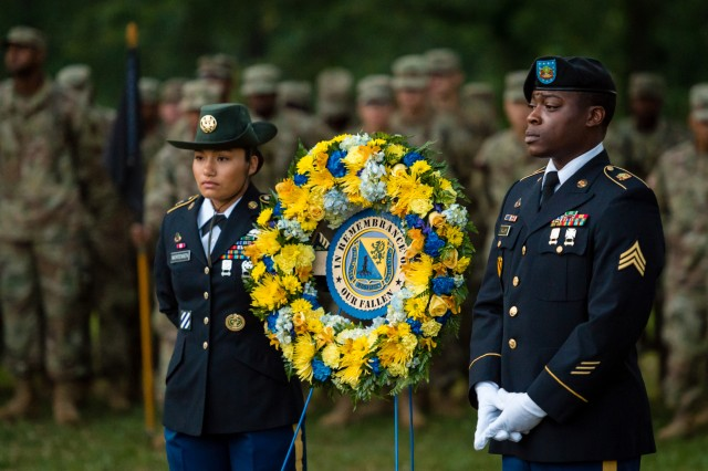 """The U.S. Army CBRN School will pay tribute to fallen Dragon Soldiers with the """"Honor to our Fallen Sunrise Service"""" at 6 a.m. June 28 at Fort Leonard Wood's Memorial Grove."""