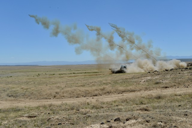 Soldiers from the Idaho Army National Guard's 116th Engineer Battalion and the U.S. Army Reserve's 321st Engineer Battalion conducted a live-fire M58 Mine Clearing Line Charge (MICLIC) range June 13, 2018 at the Orchard Combat Training Center, Boise, Idaho. Both engineer units are supporting of the 116th Calvary Brigade Combat Team's eXportable Combat Training Capability rotation.