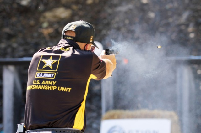 Army Soldier wins Multigun Match and Bianchi Cup