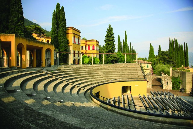 Vittoriale Amphitheater on the banks of Lake Garda
