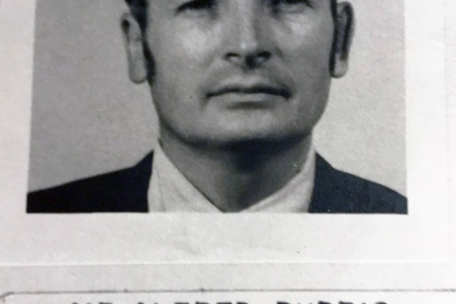 Alfred Budris in 1962 at U.S. Army Ryukyu Islands/XI corps (USARYIS), at Naha, Okinawa. He served an Equal Employment Opportunity counselor as an additional duty. (Courtesy photo) (Photo Credit: U.S. Army)
