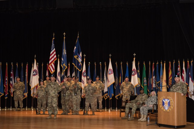 The Medical Recruiting Brigade Formation During the Change of Command