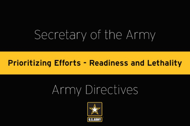 In order to build a more capable and lethal force, Headquarters, Department of the Army (HQDA) is reducing requirements in brigade and below units. This effort focuses on a systematic simplification, reduction, or elimination of required activities (training and non-training) which consume commanders', leaders', and Soldiers' time that they might otherwise spend building and sustaining combat readiness.