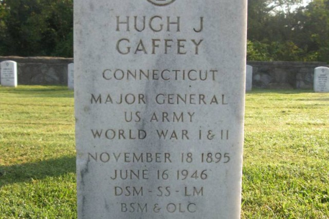 Maj. Gen. Hugh Gaffey died when his plan crashed at Godman Field, Fort Knox. Gaffey is the highest ranking Soldier buried on Fort Knox.