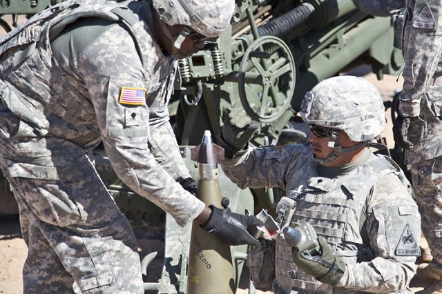 The Program Executive Office Ammunition at Picatinny Arsenal brings extensive experience and expertise to the Army's modernization efforts. One of its successes is the Precision Guidance Kit (PGK), shown above, which turns 155 mm artillery rounds into near-precision projectiles. PGK is a new, advanced fuze that transforms the current stockpile of conventional 155 mm ammunition into affordable, GPS-guided precision weapons that also reduce the logistic footprint.