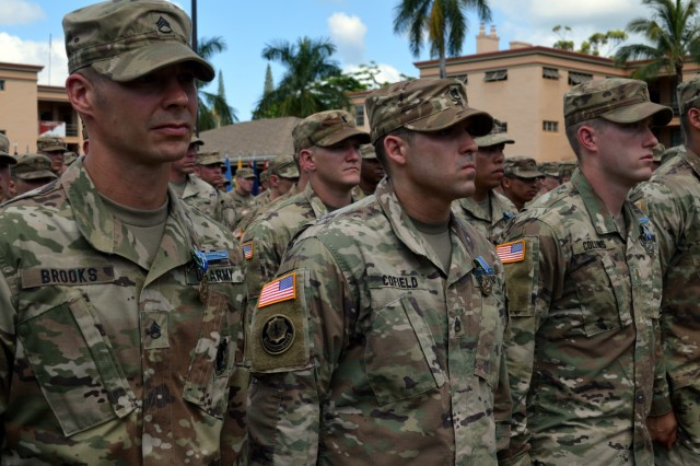 More than 160 Soldiers assigned to the 25th Infantry Division earned their Expert Infantryman Badge at Schofield Barracks, Hawaii, on June 15, 2018.  Infantrymen throughout the 25th ID are participating in this biannual event to earn the prestigious Expert Infantryman Badge. (U.S. Army photo by Staff Sgt. Armando R. Limon, 3rd Brigade Combat Team, 25th Infantry Division)