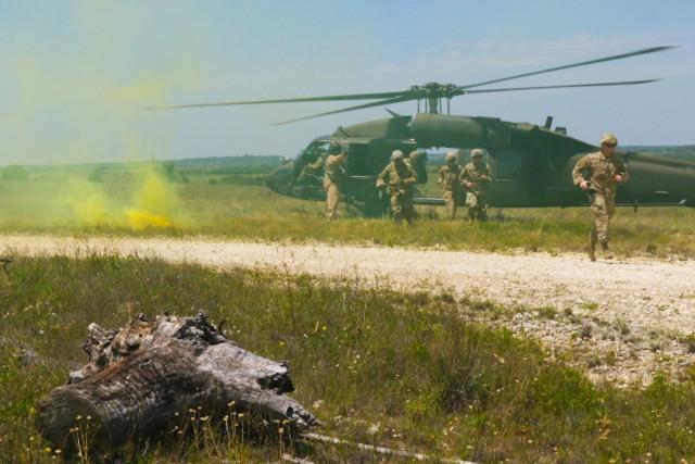 Black Hawk MEDIVAC training