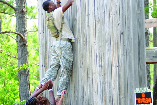 Junior ROTC Cadets go through team building exercises aimed at helping them become leaders as they grow up.