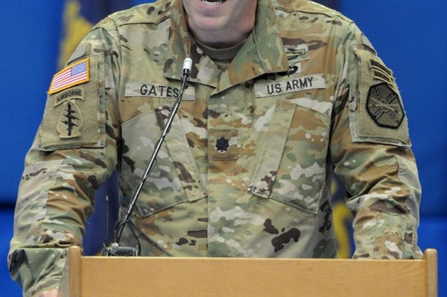 Lt. Col. Michael E. Gates, who grew up in Botetourt County, Virginia, took command of U.S. Army Garrison Fort A.P. Hill today. He comes to A.P. Hill from Special Operations Command-Africa in Stuttgart, Germany. — at Fort A.P. Hill.