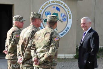 Secretary of Defense Mattis visits Fort Greely and 49th Missile Defense Battalion