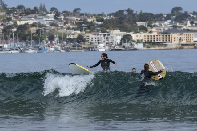 DLI student learning to surf