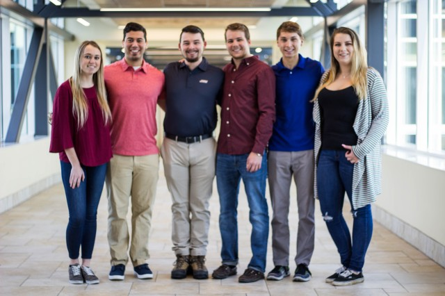 James Madison University students (left to right) Melissa Toman, Jaron Martinez, Matt Whitacre, Hunter Olson, Adam Pinegar and Kaitlyn Goudey participated in a Hacking 4 Defense, a university program designed to not only gives students a chance to tackle some of the government's biggest problems, but also serves as a way to build interest in future military or civil service.