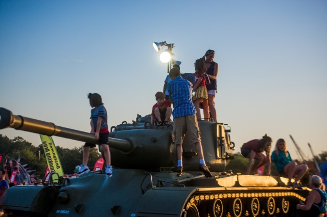 FORT BENNING, Ga. (June 26, 2018) - Children explore one of the static displays at Fort Benning's Independence Day celebration. The Maneuver Center of Excellence and Fort Benning opened its gates to the community June 23, 2018, in celebration of the Independence of the United States. (U.S. Army photo by Patrick Albright, Maneuver Center of Excellence, Fort Benning Public Affairs)