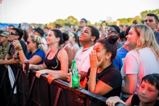 FORT BENNING, Ga. (June 26, 2018) - Crowds watch the performances at Fort Benning's Independence Day celebration. The Maneuver Center of Excellence and Fort Benning opened its gates to the community June 23, 2018, in celebration of the Independence of the United States. (U.S. Army photo by Patrick Albright, Maneuver Center of Excellence, Fort Benning Public Affairs)