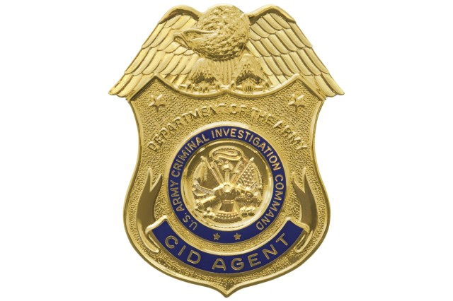 U.S. Army CID Badge graphic.